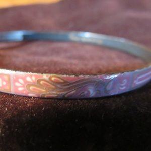 Michaela Frey Jewelry - Michaela Frey handmade enamel pink bangel, Austria